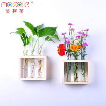 3 Tabung Yang Jelas Botol Kaca Vas Bunga Dengan 1 Dasar Kayu Wadah Kaca Hidroponik Bunga Untuk Dekorasi Rumah Buy Tabung Yang Jelas Botol Kaca Vas