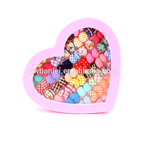 36Pairs Set Heart Gift Box Packing Cute Anti Allergy Plastic Stick Colorful Unique Long Drop Earrings