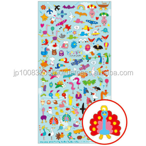 Petit Sticker 72705 YURU bird _ Loose bird _ sticker paper _ paper craft _ most popular products