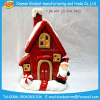 Christmas festival decorative ceramic village houses with high quality