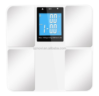 180kg Personal Bluetooth Body Analysis Smart Weighing Scale with iOS&Android Large LCD display digital bathroom scale