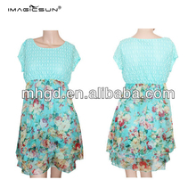 China manufacturer new design beautiful flower women fashion dresses for summer wholesale dress