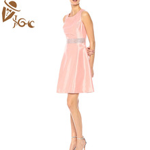casual fashion party sleeveless women ladies dresses with candy colors