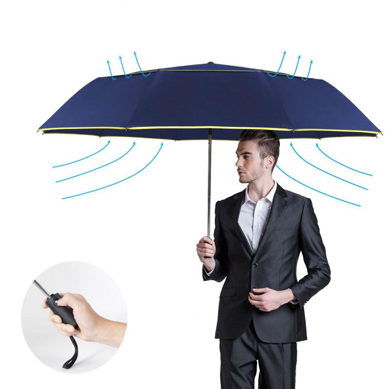TtKj Folding Umbrella Fashion Business Automatic Folding rain Sun Parasol 23in