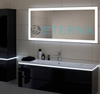 EMI.18. Rectangle decoration LED Backlit bathroom mirror
