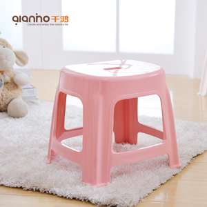 Chinese cheap stackable portable kitchen bath small kids plastic stool chair