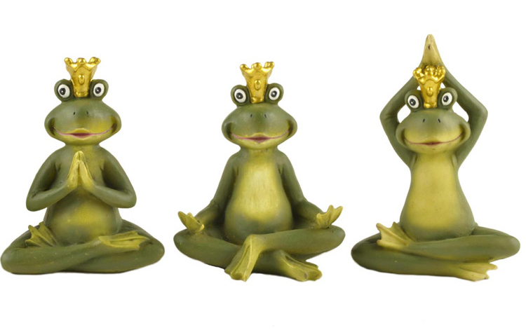 Custom resin decorative polyresin garden frog statue with your words