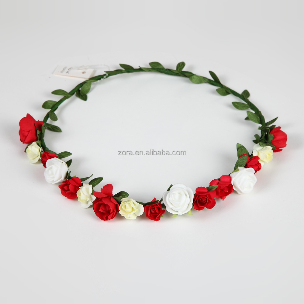 Fashion Artificial Plastic Flower Hair Wreath Wholesale Buy
