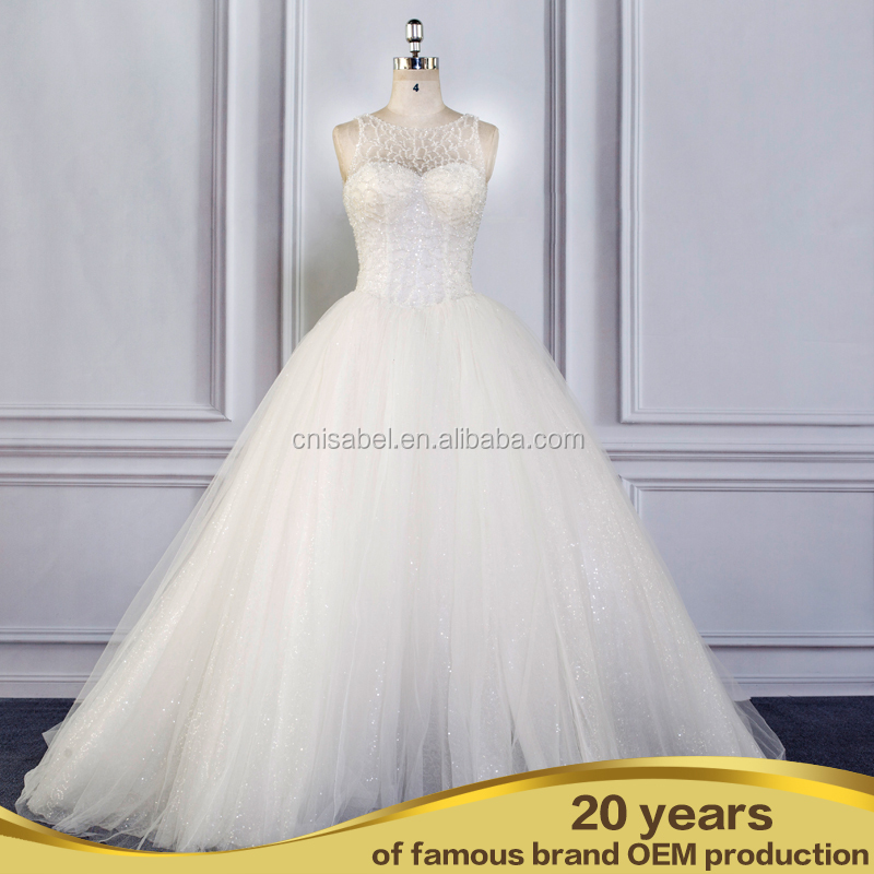 SW16611 China custom made wedding dress low price guangzhou wedding dress
