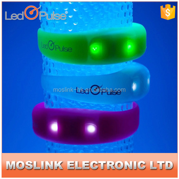 LED Pulse Flashing Motion sensor LED silicon wristbands bracelets