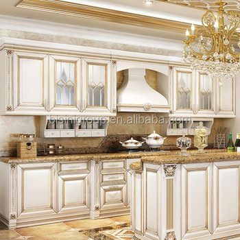 Classic French Style Pantry Modular Solid Wood White And Gold Kitchen Cabinet Furniture Bf12 10184a Buy French Kitchen Cabinet Customized