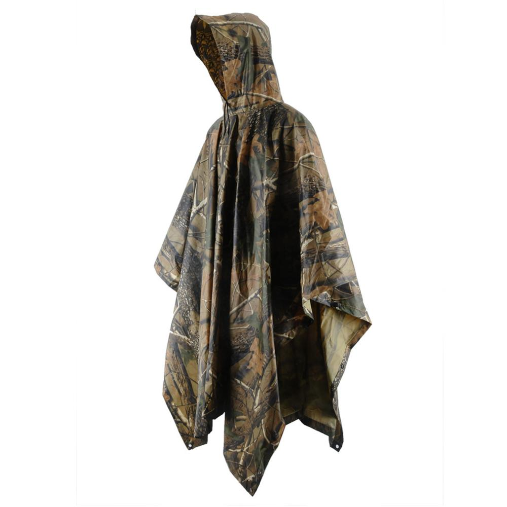 2017 Trending hot sale outdoor maple leaf camouflage raincoat Adult PVC awnings poncho