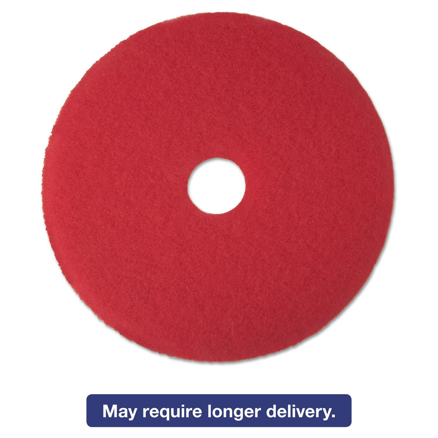 "3M 08393 Red Buffer Floor Pads 5100 Low-Speed 18"" 5/Carton"