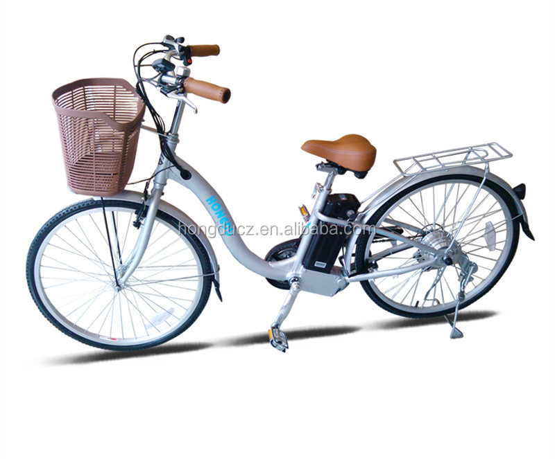 Hot sale electric city bicycle with basket for women in China