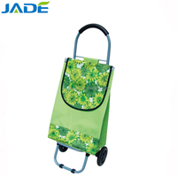 Portable foldable folding trolley bag shopping cart pulley travel with removable bag and detachable cart and wheels