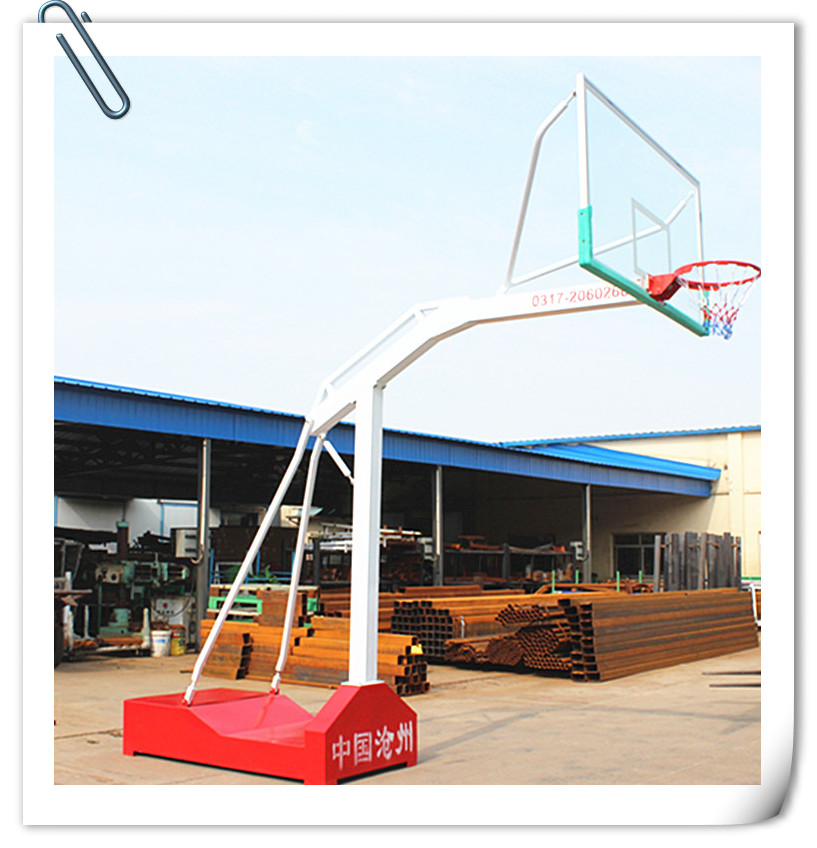 top grade movable basketball stand with ring, backboard and net