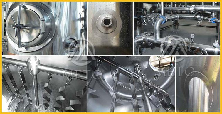 50L 100L all-in-one brewhouse equipment in micro brewery equipment for home beer brewing system