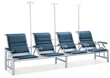 Logam Baru 4 Pcs Rumah Sakit Kursi Tunggu Kursi Bandara Vip Ruang