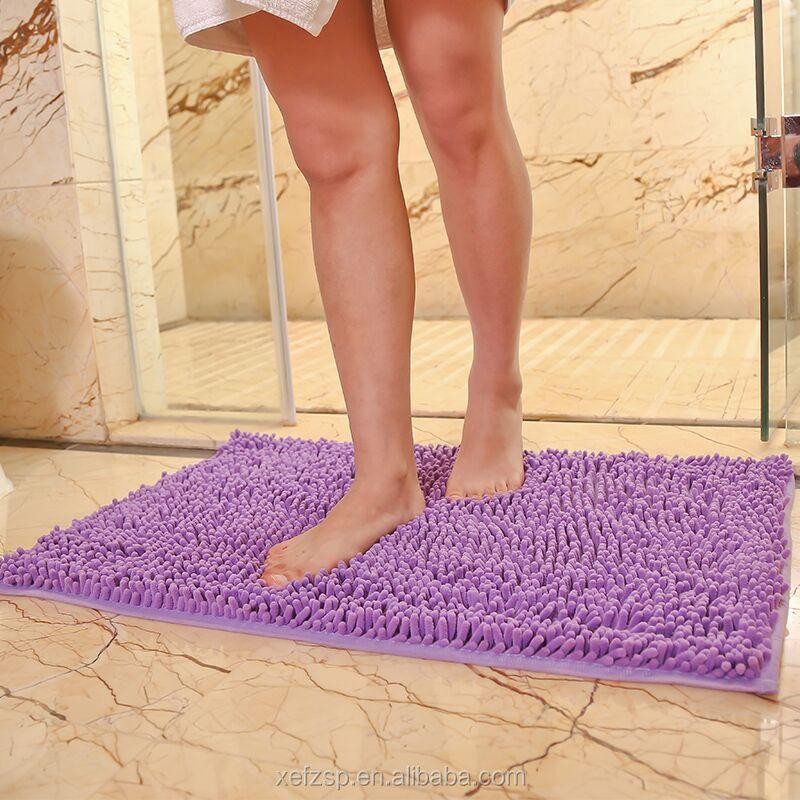 Popular Venta caliente no slip de baño chenille para cuarto de baño