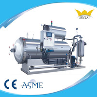 Steam or water used single pot commercial food autoclave reactor