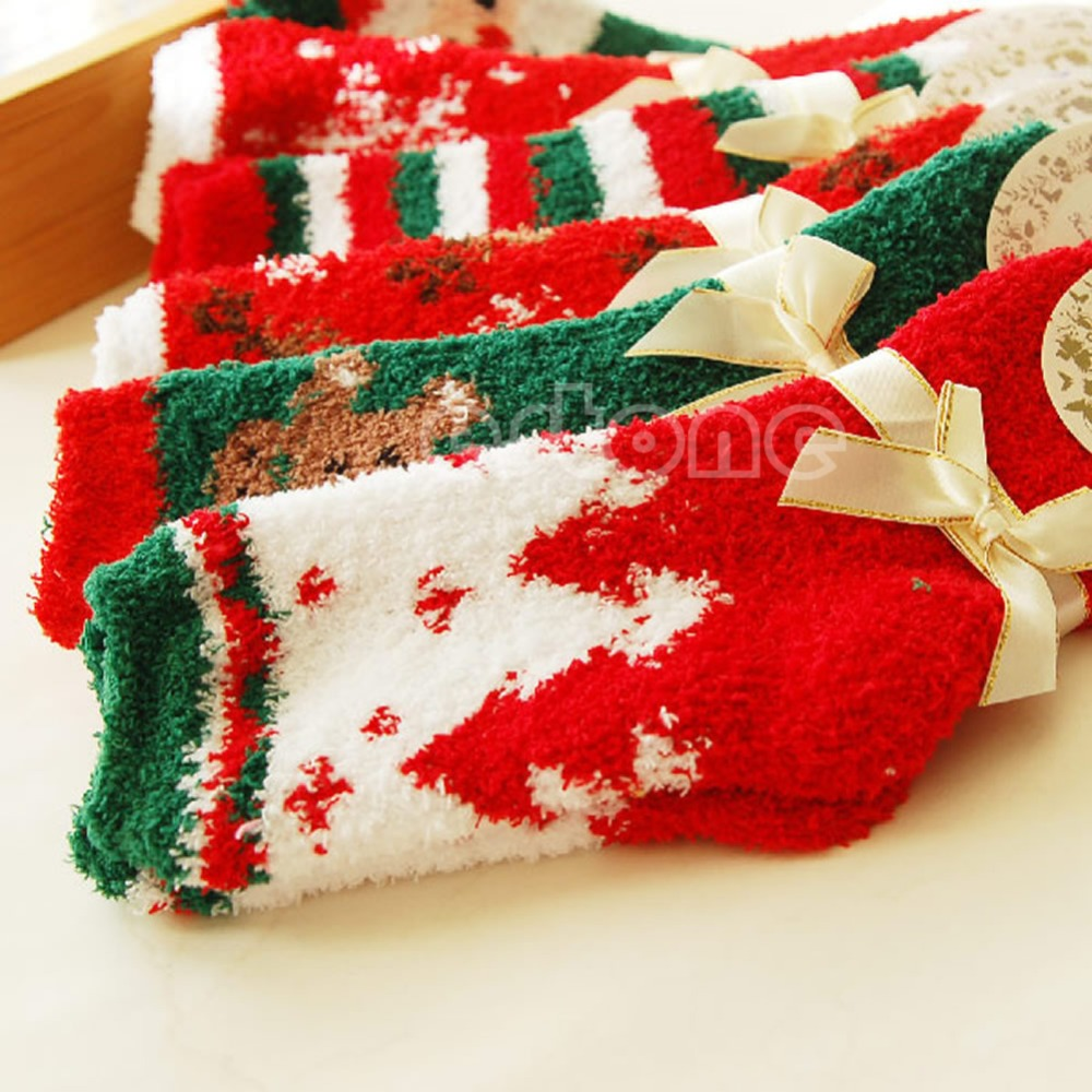 Free Shipping 1 Pair Cozy Warm Soft Women Winter Autumn Home Christmas Festival Gift Socks New