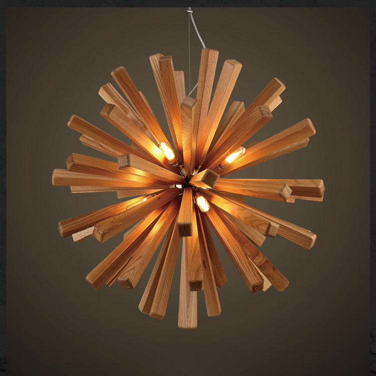 Modern Caracole Industrial Style light E27 Wood Muti Color Concrete Pendant Lamp for Dining Room