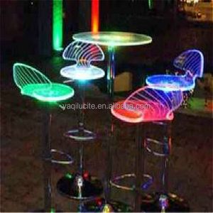 Hot sale modern colors changeable waterproof led bar chair