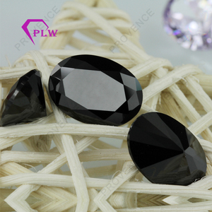 2*3mm,3*5mm wholesale price oval shape black zircon stone for jewelry making
