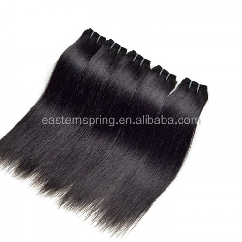 Wholesale/Retail straight wave remy Indian Human Hair Weft with hair lace closure