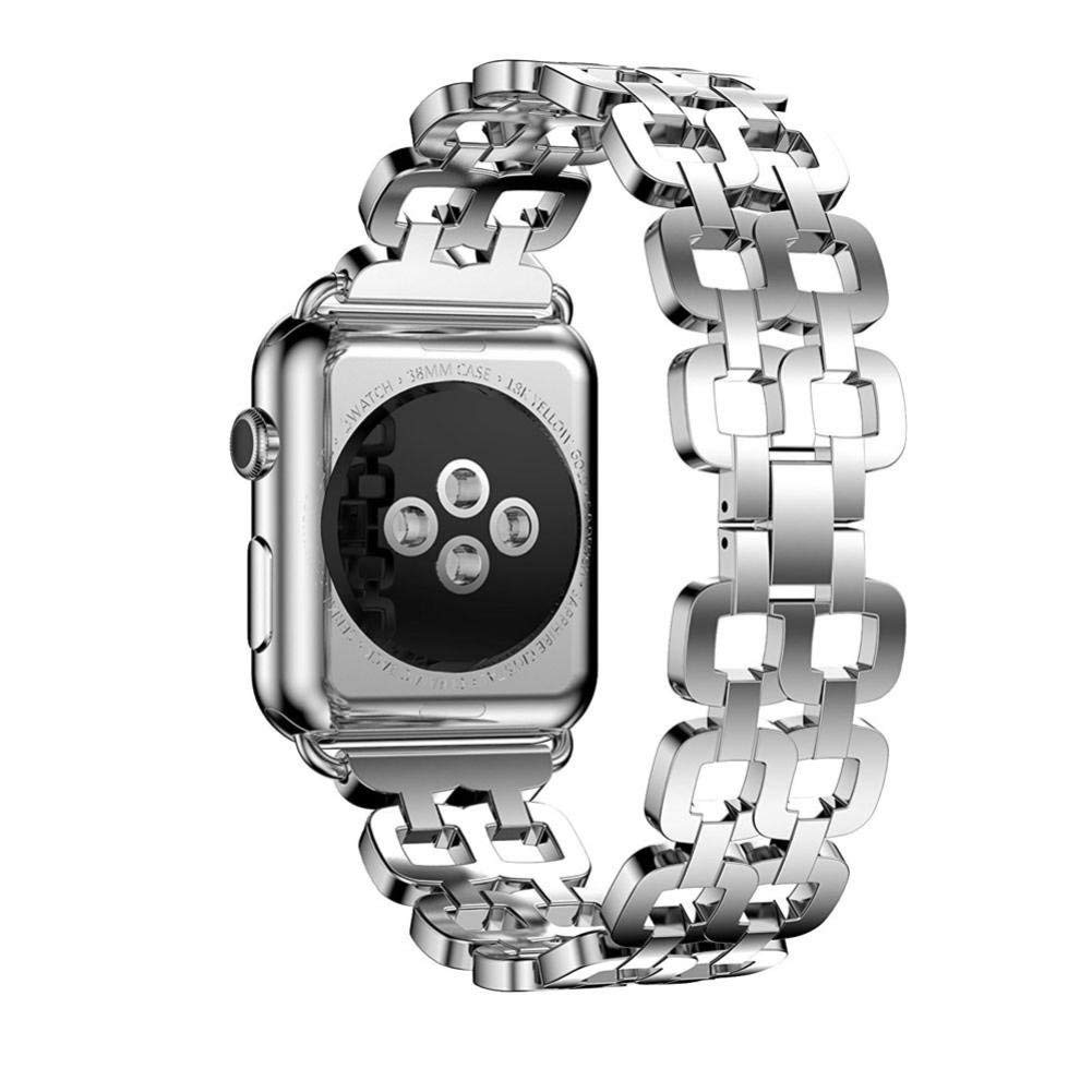 For Apple Watch Band 38MM, HP95(TM) Luxury Replacement Genuine Stainless Steel Bracelet Smart Watch Strap + Repair Tool For Apple Watch 38mm (Silver)