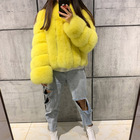 women full pelt winter thick real fox fur coat ladies long sleeve natural fox fur jacket