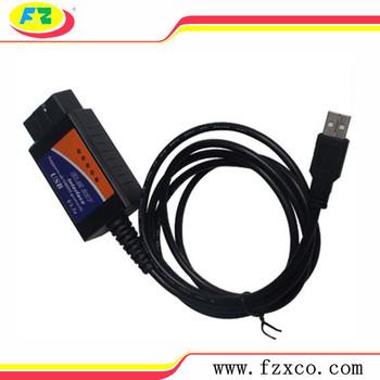 Usb Elm327 Obd2 Obd Usb Interface Cable Car Ecu Diagnostic Tool Scanner Car  Scan Tool - Buy Usb Diagnostic Tool,Usb Obd2 Scanner,Elm327 Usb Interface