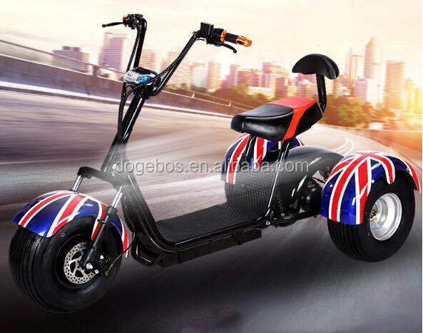 New style citycoco electric scooter/20ah 1500W 3 wheel scooter with max speed 65km/h, Customized