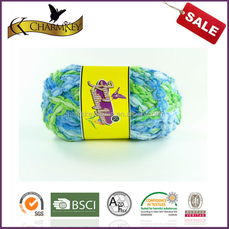 New arrived hand knitting space dyed DIY fancy tape bracelet yarn