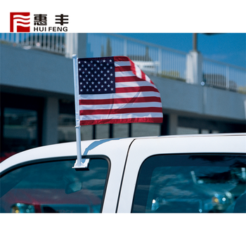 Latest Custom Made Quality Double Side Flag For Car Window