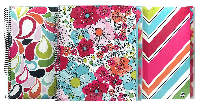 Studio C Sugarland Five Subject Writing Notebook, 3 Pack (37067)