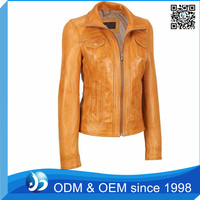 Fashion Leather Ladies Jacket Factory Price