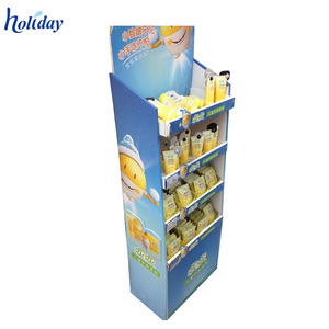 Supermarket Store Makeup Mac Cosmetic Product Cardboard Display Stand,Cosmetic Display Shelves Rack
