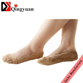 Wholesale Beautiful Ladies Invisible Socks With Lace