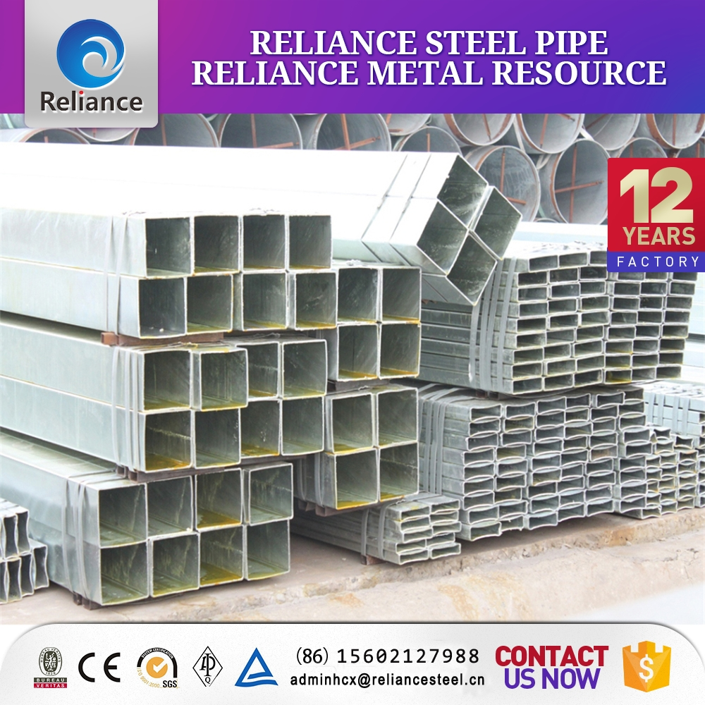 Steel structure used galvanized steel square tubing