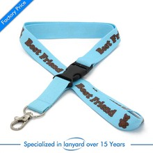 Hot sales cheapest custom logo lanyard with release buckle