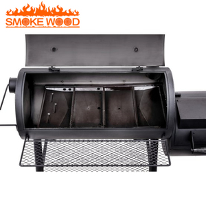 New Arrival Heavy duty Barrel Trolley Portable Charcoal Smoker BBQ Grills