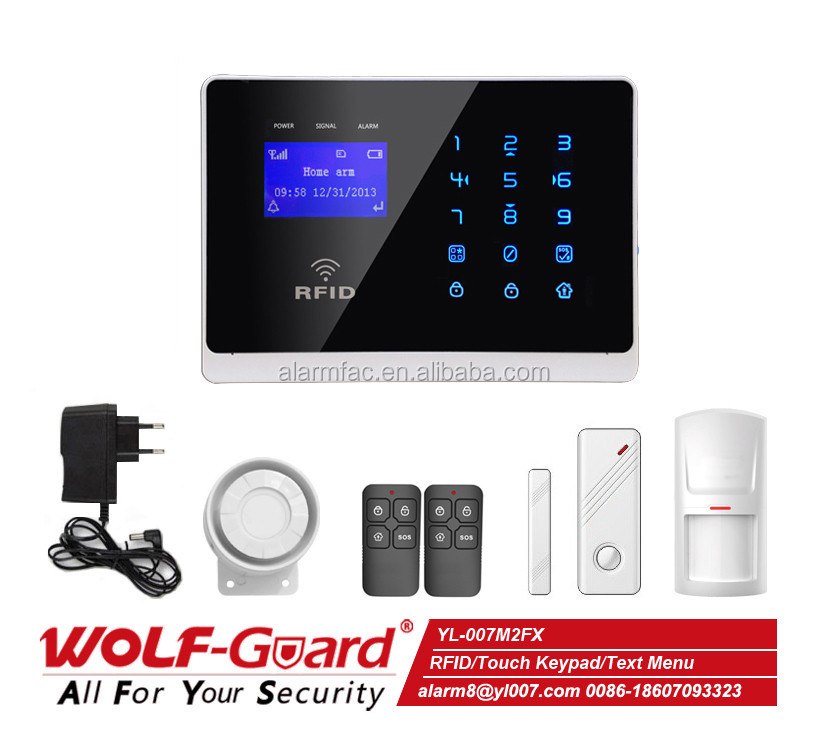 10 Wireless Zones and 2 Wired Zones Alarm GSM Intelligent Alarm System Manual YL-007M2FX