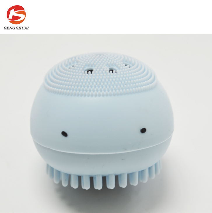 new design cleaning facial or body washing brush with whale shape