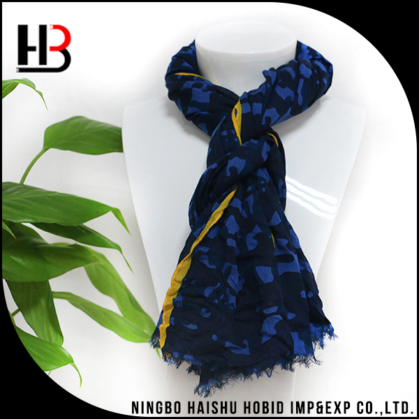 Custom design printed shawl scarf men for spring summer