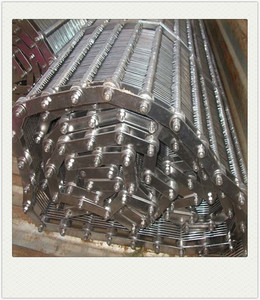 China stainless steel double balance conveyor mesh belt for food dryer