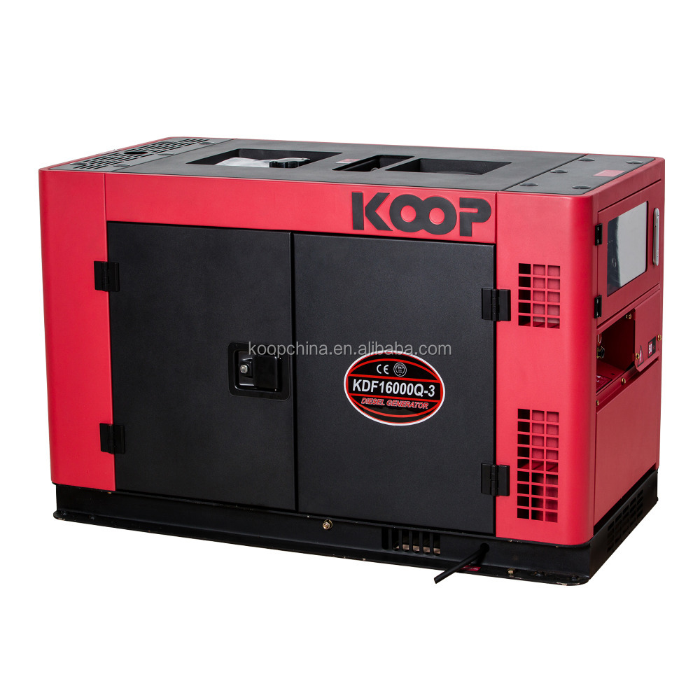 50Hz 15kva electric start portable silent type diesel generator