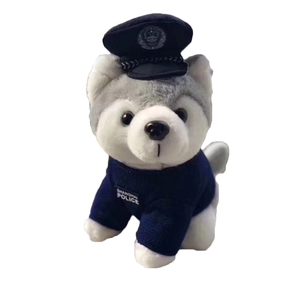 Wholesale Embroidered or Printing Logo Wear a Uniform Plush Dog Toys Good Cheap Stuff Toys
