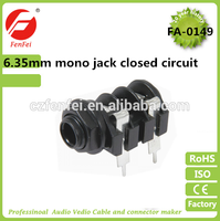 high quality 6.35mm mono jack closed circuit swift circuits