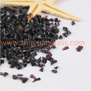 black 2-4mm clear Flat Back Colored Glass Chips Mirror Beads
